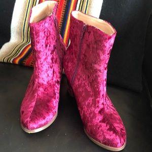 Chase + Chloe velvet boot